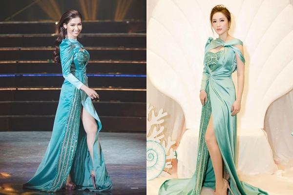 """Đụng hàng váy cũ với Bảo Thy, liệu """"hậu duệ"""" Hương Giang có đủ sức chiếm thế thượng phong"""