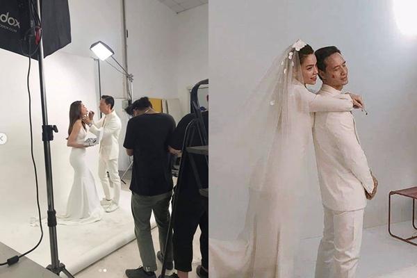 Sau bao lời đồn thổi, cuối cùng Kim Lý và Hồ Ngọc Hà cũng khiến fans an lòng khi rủ nhau đi chụp ảnh cưới