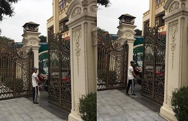 """Chàng trai ôm hoa đứng đợi nàng trước biệt thự sang trọng nhân 8/3, CĐM được dịp đồn """"thổi"""": Khởi nghiệp tốt lắm!"""