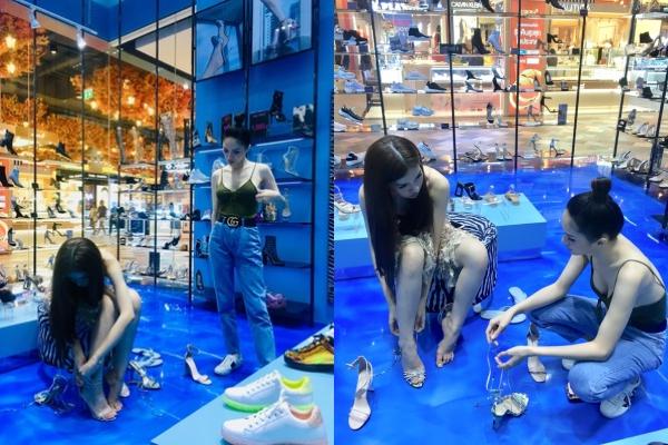 Lộ hình ảnh Hương Giang đích thân cúi người chọn giày cho Nhật Hà, xóa tan chỉ trích không giúp đỡ đàn em