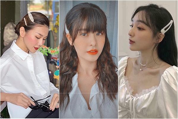 Học loạt mỹ nhân Việt cách diện kẹp tóc ngọc trai vừa sang vừa đẹp, không lo sến súa