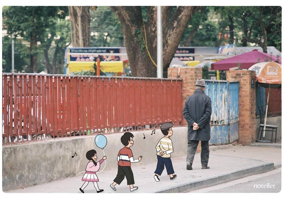 Một Hà Nội ríu rít tiếng nói cười của trẻ con. Đằng sau những bộn bề, hối hả, đừng quên một Hà Nội bình dị và hiền hoà.