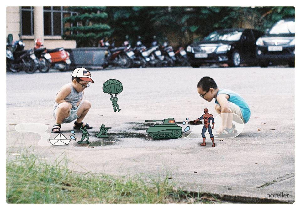 Những góc Hà Nội cũng luôn gợi nhớ những ngày còn chơi bắn bi, trốn tìm với đám bạn trong xóm.