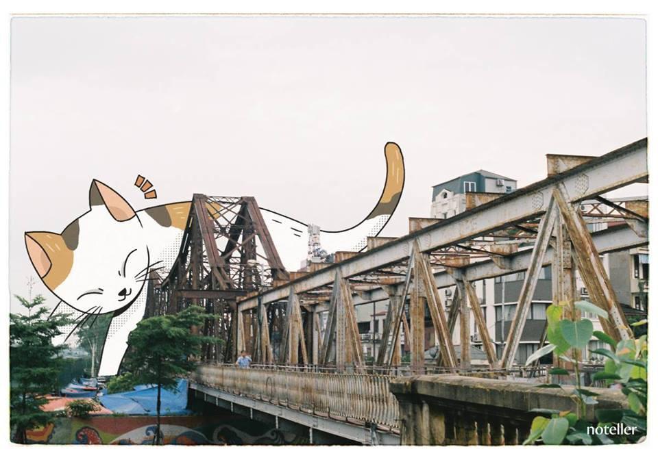 Có lúc biếng lười, chỉ muốn nằm dài như một chú mèo hay như cây cầu Long Biên già nua, cũ kỹ để ngắm nhìn một Hà Nội cổ kính, thâm trầm.