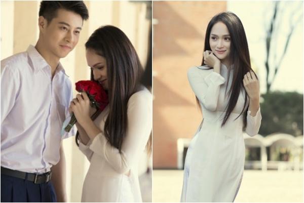 """EDTACNA lọt top 1 trending trên Youtube, Hương Giang tung trọn bộ ảnh """"nữ sinh"""" trong tà áo dài thướt tha"""