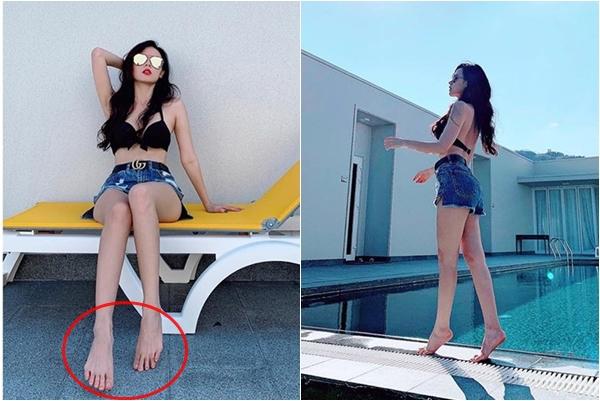 """Lâu lắm mới thấy Midu khoe thân hình đẹp ngỡ ngàng, nhưng đôi chân lại khiến cô nàng """"mất điểm"""" toàn bộ"""