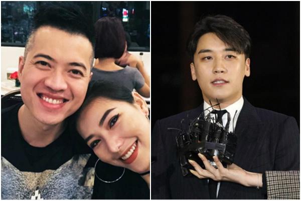 """Chồng Lưu Đê Li - Huy DX hám fame, lên tiếng bảo vệ Seungri """"chơi thế còn ít đấy, có gì đâu"""""""