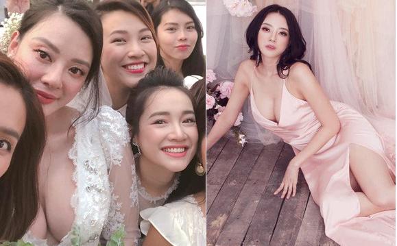 """Danh tính """"bạn thân nóng bỏng"""" gây chú ý hơn cả Nhã Phương khi chụp chung ảnh trong đám cưới"""