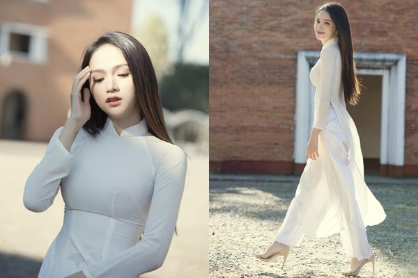 """Nhớ thời còn là Hoa hậu, Hương Giang diện áo dài catwalk """"chóng mặt"""" giữa lớp ai ngờ nhận cái kết """"đắng"""""""