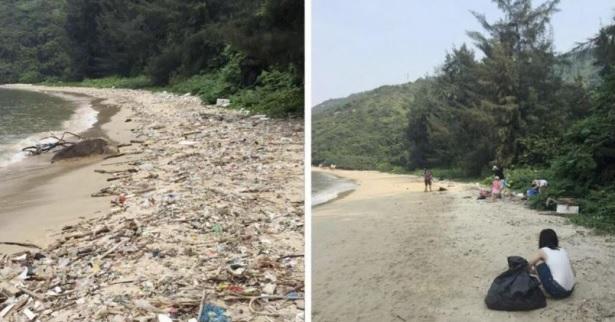 """Người Việt nô nức nhận thử thách """"dọn rác chụp ảnh"""": Hơn 300 tình nguyện viên làm sạch bãi biển"""
