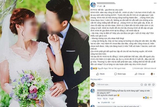 Chàng trai 20 tuổi bế tắc khi muốn cưới người yêu hơn 8 tuổi nhưng bị bố phản đối: Yêu cái đứa bằng tuổi cô mày vậy!