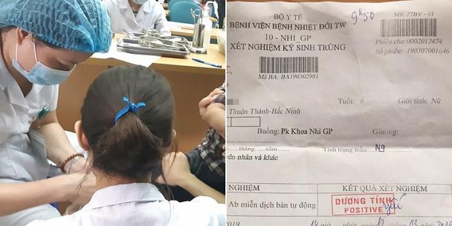 Hàng trăm trẻ mầm non ở Bắc Ninh nghi nhiễm sán lợn về Hà Nội xét nghiệm sau khi 3 em dương tính