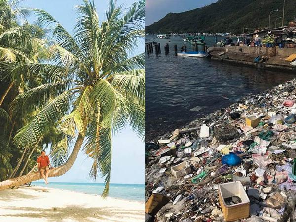 """Hết Lý Sơn, Bình Ba…tới lượt """"Đảo dừa Hawaii"""" Hòn Sơn lộ hình ảnh """"ngập rác"""" thất vọng"""
