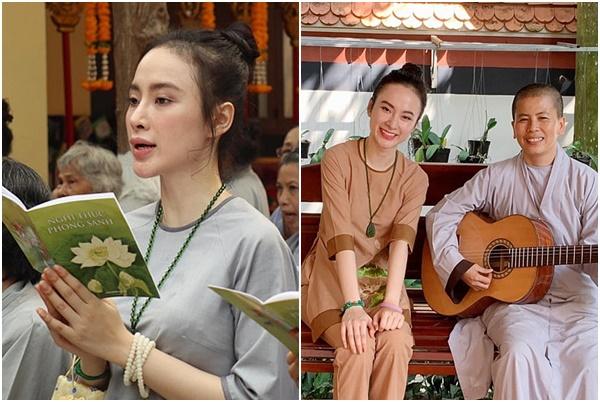 """Ăn chay, đi chùa tụng kinh, không khoe thân, Angela Phương Trinh thành """"gái ngoan"""" ai cũng yêu!"""