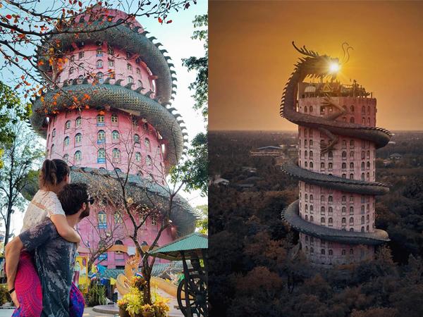 Tin được không, lên hình đẹp như phim Hollywood nhưng đây là ngôi chùa độc đáo ở Thái Lan