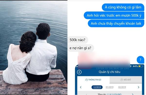 """Nhắn tin đòi người yêu cũ 500k, ai ngờ bị cô nàng chửi là """"đồ đàn ông mặc váy"""", chàng trai uất ức lên mạng than vãn"""