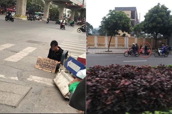 """Thanh niên ăn xin trên phố Hà Nội để có tiền về quê nhưng quê đâu chưa thấy lại thấy tậu xe sang, """"tút tát"""" bảnh trai"""