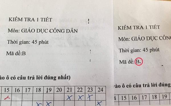"""Đỉnh cao của đặt tên mã đề: Chỉ một dấu chấm, giáo viên khiến học sinh chép bài """"sập bẫy"""""""