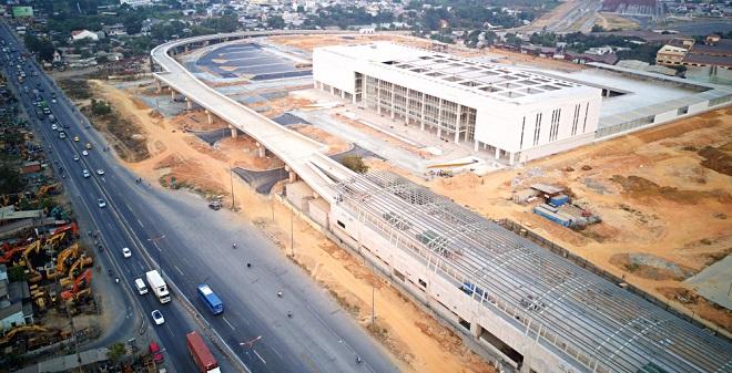 Bến xe to nhất Việt Nam với tổng vốn đầu tư 4.000 tỷ đồng gấp rút hoàn thiện