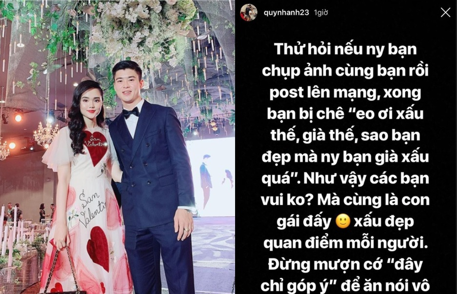 """Bị chê """"vừa già, vừa xấu"""" khi trang điểm chụp ảnh cùng Duy Mạnh, Quỳnh Anh đã có phen đáp trả """"chẳng vừa đâu""""!"""