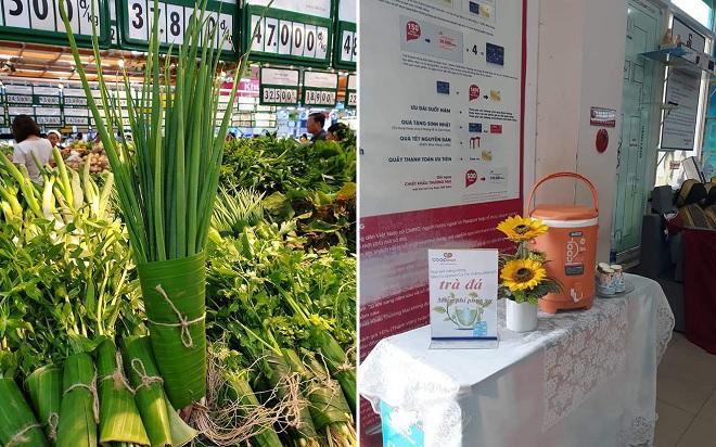 Hãng bán lẻ Việt dùng lá chuối thay túi nilon, miễn phí trà đá những ngày nắng nóng