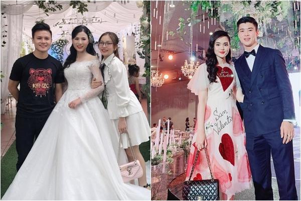 """Người yêu Duy Mạnh bị """"dìm tơi tả"""", bạn gái Quang Hải lại nhận cơn mưa lời khen với style đi ăn cưới thế này"""