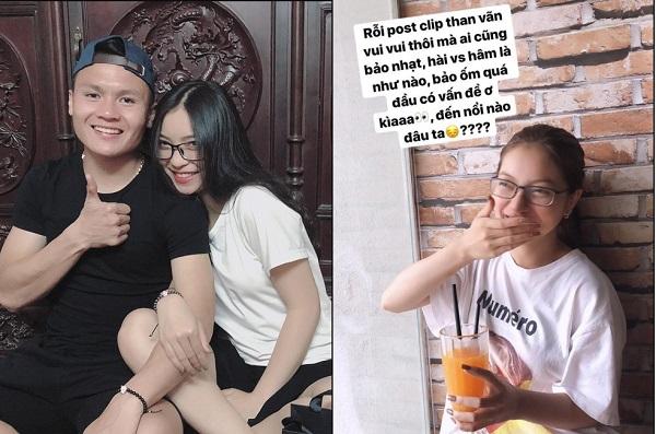 Post clip vui mà cũng bị nhận xét là hâm, đầu có vấn đề, thảo nào bạn gái Quang Hải lại tức giận và nói điều này!