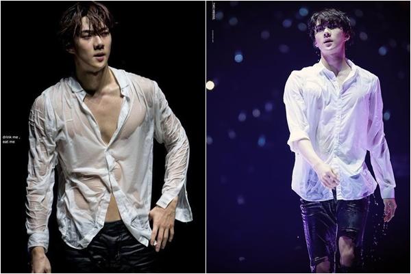 """Qua rồi cái thời sơ mi đơn thuần, phải diện sơ mi phong cách """"ướt sũng"""" như Sehun (EXO) thế này mới là cực phẩm"""