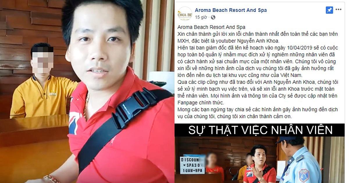 """Aroma Resort lên tiếng xin lỗi Khoa Pug, mong cộng đồng mạng ngừng """"ném đá"""""""