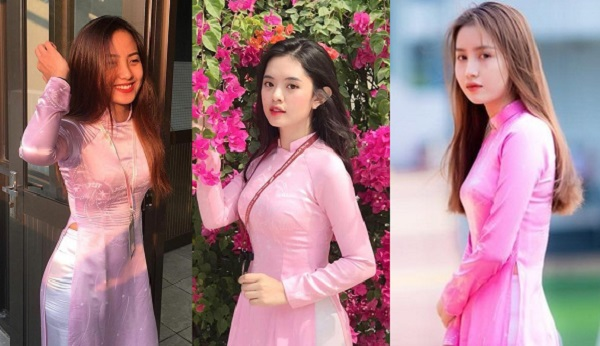 Chiêm ngưỡng nữ sinh ĐH Tôn Đức Thắng đẹp ngây ngất trong đồng phục áo dài hồng