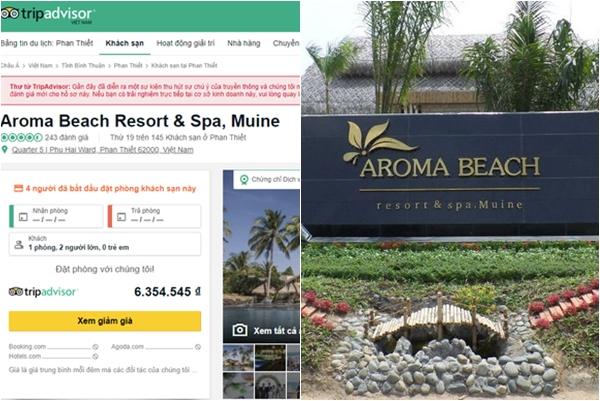 """Trang review khách sạn """"khủng"""" TripAdvisor khóa chức năng đánh giá về Aroma Resort"""