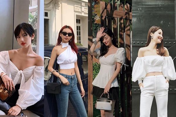 """Đua nhau lăng xê mốt áo """"tay bồng"""" ngày hè: Jun Vũ ghi điểm - Khánh Linh lộ thân hình gầy guộc đáng lo"""