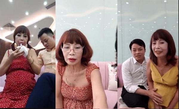 """Livestream khoe bụng """"vượt mặt"""", ấy vậy mà khi được hỏi về thông tin bầu bí, cô dâu 62 tuổi lại rụt rè chia sẻ thế này đây!"""