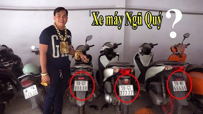 Phúc XO đeo vàng giả nhiều nhất Việt Nam, sở hữu dàn xe biển ngũ quý giả