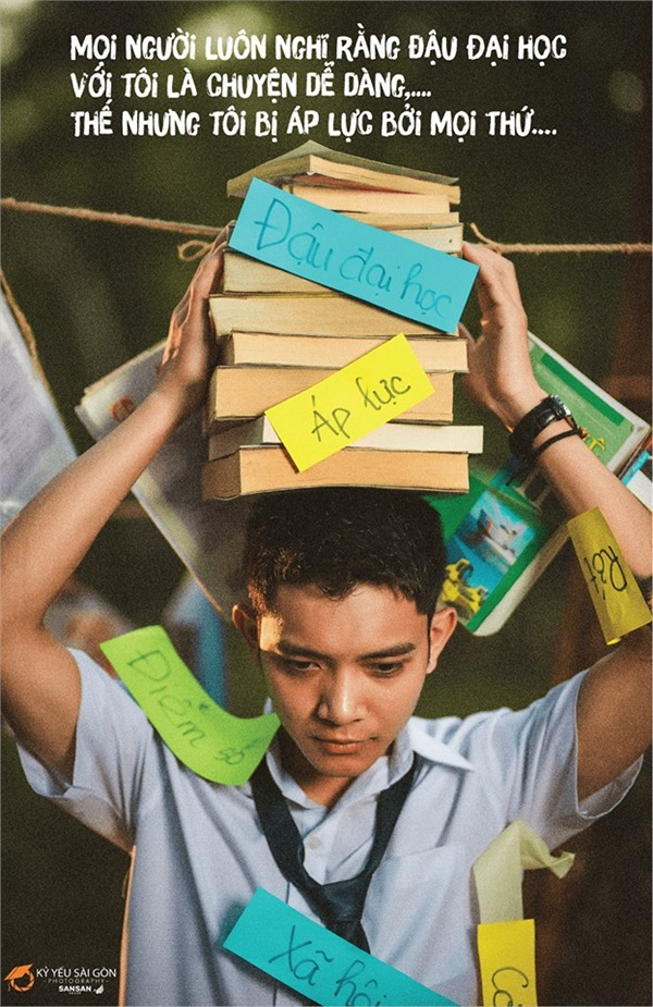 Ảnh 2: Áp lực học tập của học sinh