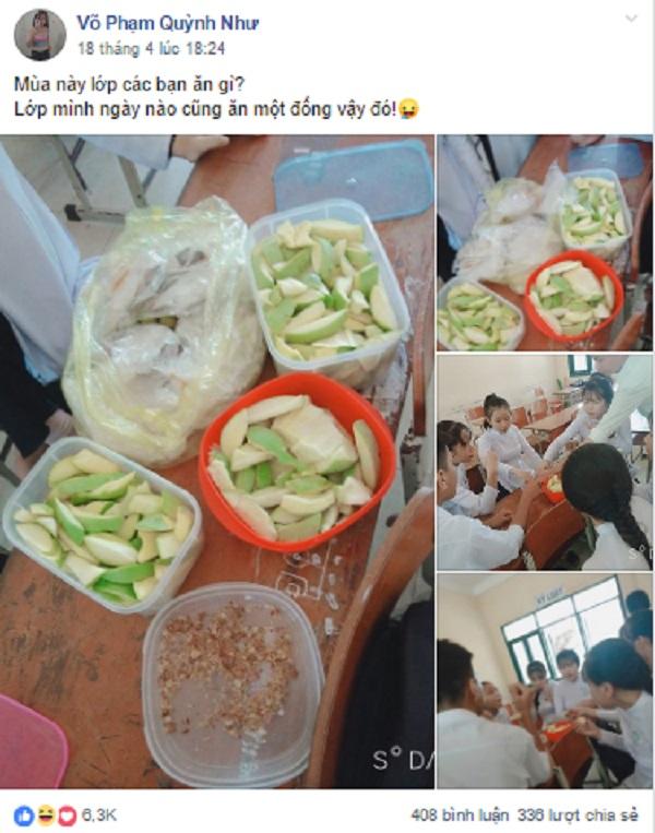 Ảnh 1: Ăn quà vặt trong lớp - We25.vn