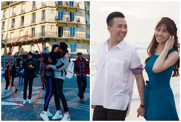 Trấn Thành - Hari Won khoá môi đắm đuối giữa đường phố Paris nhưng Trịnh Thăng Bình mới là tâm điểm chú ý