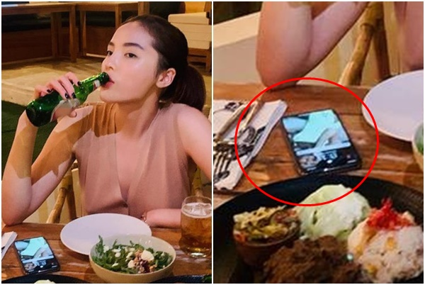 """Sau tuyên bố yêu, phát hiện Kỳ Duyên để hình nền điện thoại là """"ảnh táo bạo"""" của Minh Triệu"""