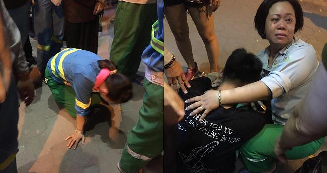 Đau lòng cảnh con trai nhìn mẹ nằm lại trên phố, đồng nghiệp nữ công nhân môi trường kể câu chuyện chua xót