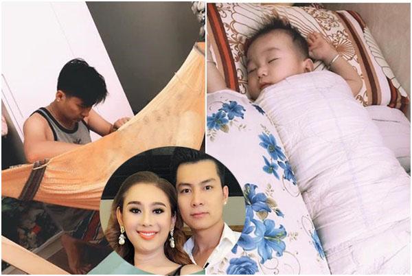 Khoe ảnh chồng trẻ ngủ gật ru con, Lâm Khánh Chi tự hào ai sống hạnh phúc bằng mình?