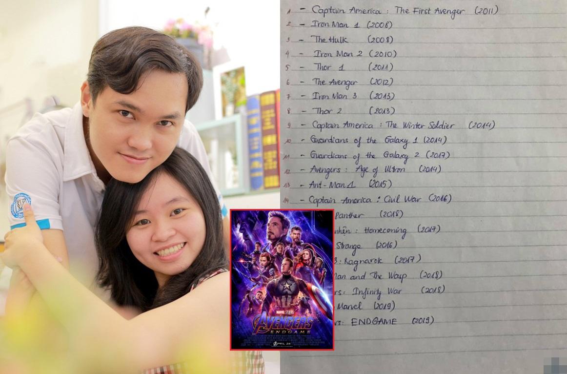 """Bạn gái người ta: Sợ hỏi nhiều làm bạn trai tụt hứng khi xem Avengers, cô gái """"cày"""" nguyên series phim, ghi cả ra giấy cho nhớ"""