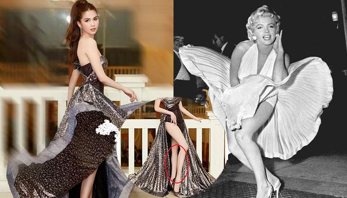 """Ngọc Trinh tái hiện màn xoay váy kinh điển của Marilyn Monroe, dân mạng nhao nhao """"Còn phèn lắm Trinh ơi!"""""""