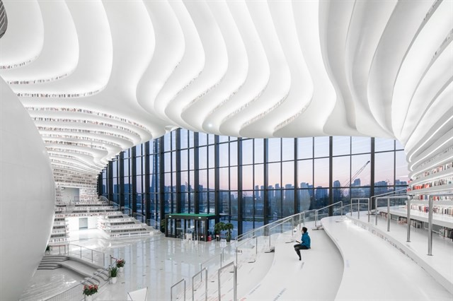 """Đề cử thư viện đẹp nhất Trung Quốc - Địa điểm """"sống ảo"""" không thua gì phim trường viễn tưởng"""