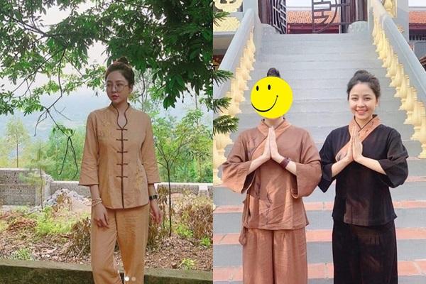 """Sau ồn ào """"MV 4 phút"""", Trâm Anh quy y cửa Phật, chắp tay kính cẩn một lòng hướng thiện?"""