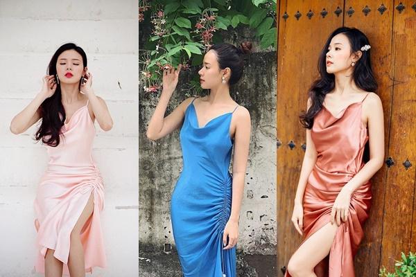 Chưa dừng lại, Midu tiếp tục mua thêm màu mới cho bộ sưu tập váy 6 chiếc cùng 1 kiểu của mình