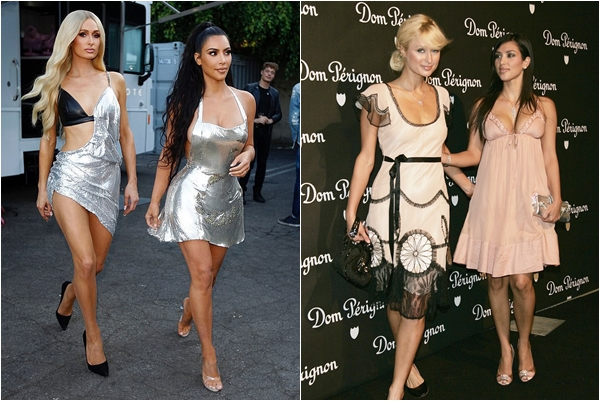 """Tái diễn sau 2 thập kỷ, Kim Kardashian không còn là vai phụ mờ nhạt, lấn át """"cô chủ cũ"""" Paris Hilton trong 1 nốt nhạc"""