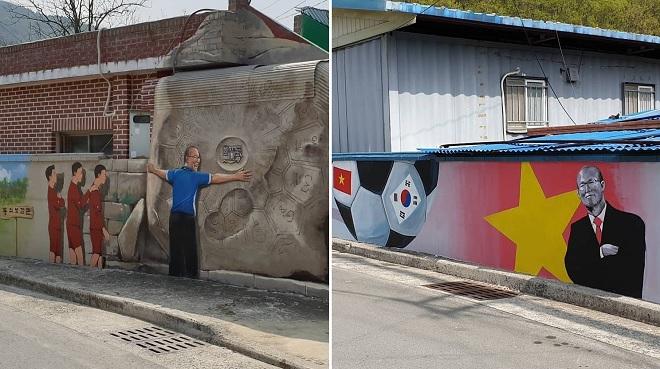 Quê hương thầy Park ngập tràn bích họa về ĐT Việt Nam ở khắp những con phố xinh xắn