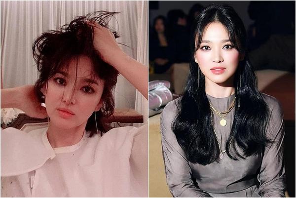 """Cận cảnh màn trang điểm khói giúp Song Hye Kyo thành """"nữ thần Trung Quốc"""", nhìn kĩ cũng """"hú hồn"""" ra phết"""
