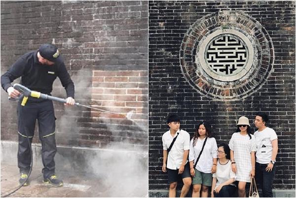 """""""Hóng"""" hình ảnh mới của cổng Ngọ Môn Huế sau khi được """"lột xác"""" bằng công nghệ siêu sạch của Đức"""
