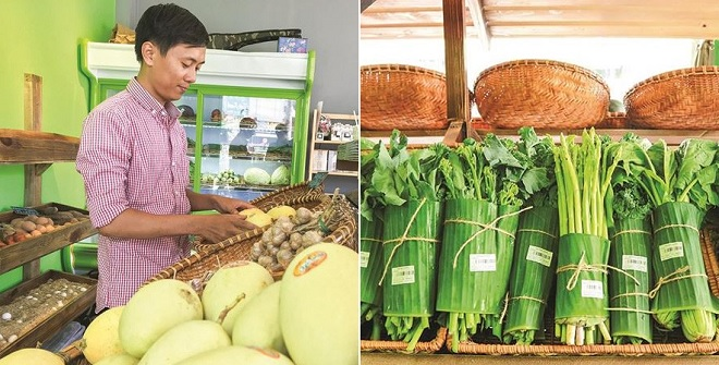 Thành công với tiệm nông sản gói rau bằng lá chuối, đây mới là người tiên phong trong nỗ lực loại bỏ rác thải nhựa ở Việt Nam